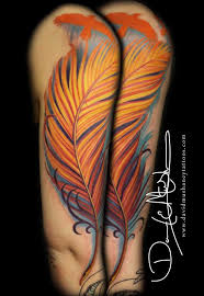 rebel muse tattoos color color half sleeve feather