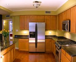small kitchen small galley kitchen with stain kitchen cabinets