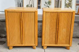 pair of rare heywood wakefield tambour door cabinets at 1stdibs