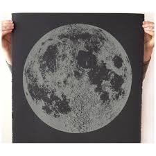 Glow In The Dark Home Decor Glow In The Dark Moon Print Large Moon Print Moon Art Lunar