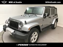 used jeep rubicon 2015 used jeep wrangler unlimited sahara 4x4 at mini of austin tx