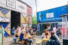 halloween parties in the city shipping container street food market and event space in buzzing