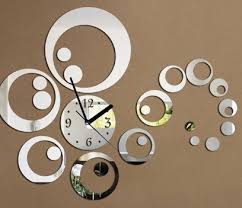 Decorative Wall Clocks For Living Room Winsome Decorative Mirror Wall Clock 117 Decorative Mirror Wall