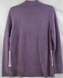 bentley purple sarah bentley purple mock turtleneck soft acrylic knit sweater sz