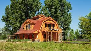 gambrel homes barn wood home great plains gambrel barn home project lbr1010