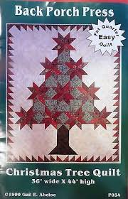 upc 765961010344 christmas tree quilt pattern back porch press