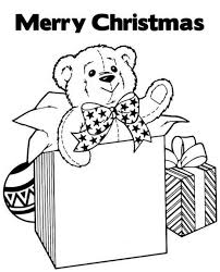merry christmas coloring page gifts christmas coloring pages of