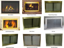 decorator glass and track zero clearance fireplace door