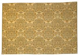 Traditional Upholstery Fabrics Consigned Antique Vintage Green Tan Brown French Damask Upholstery