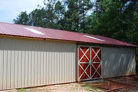 Pole Barn Roofing Open Shelter And Fully Enclosed Metal Pole Barns Smith Built