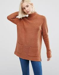 warehouse patch pocket tunic jumper rust women jumpers warehouse