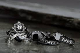 black wedding sets ellyn s black cz wedding ring set wedding bands jewelry