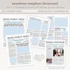 family newsletter template spring green simple family newsletter