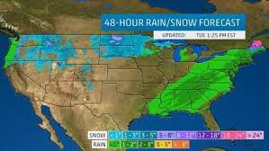 weather map of east coast usa winter central weather