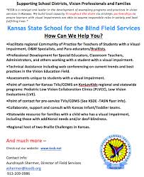 Blind Support Services Field Services Kansas State For The Blind