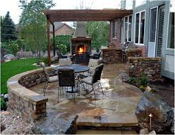 awesome outdoor kitchen with fireplace taste