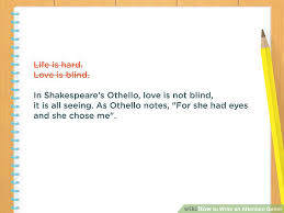 Love Blind Definition 4 Easy Ways To Write An Attention Getter With Pictures