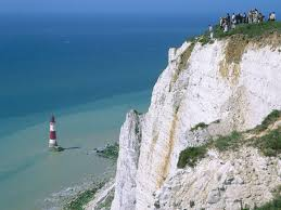 beachy head lighthouse eastbourne east sussex england
