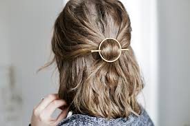 hair barrette diy brass circle barrette the merrythought