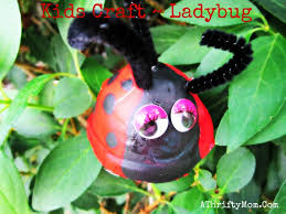kids crafts ladybugs made out of an egg carton