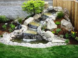backyard water features for small yards outdoor fountains