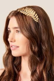 gold headband gold leaf headband s