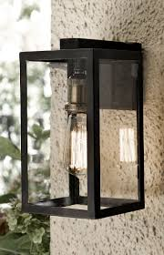 outdoor light fixture with built in outlet sunbeam led wall lantern with gfci and sensor outdoor light fixture