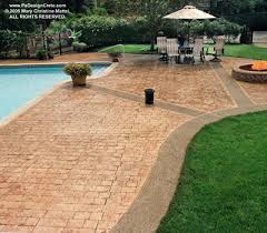 free online catalog showcases decorative concrete pool decks