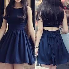 classic bateau sleeveless short navy blue homecoming dress open