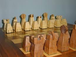 handmade chess set and board by the plane edge llc custommade com