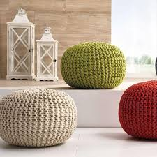 Ottoman Knitted Nordic Knitted Ottoman
