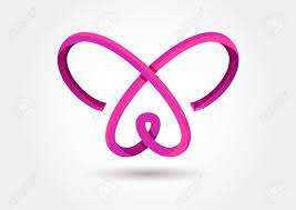 abstract infinity butterfly symbol royalty free cliparts vectors