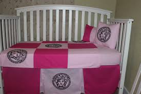Versace Bedroom Furniture Crib Bedding Set 5 Piece Versace Theme Patchwork