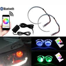 ring light effect app 2x multi color rgb led demon eye halo ring headlight app remote