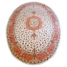 10 X 11 Rug Tabriz Oval Silk And Wool Rug Oriental Rugs