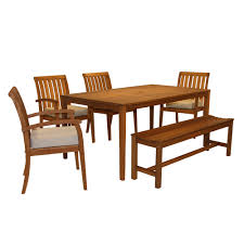 Eucalyptus Outdoor Table by Outdoor Interiors Set20505 6 Piece Eucalyptus Outdoor Dining Set