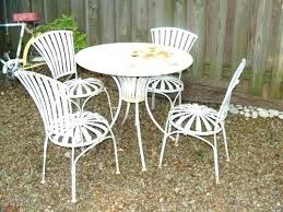 patio table with 4 chairs used outdoor patio furniture vintage