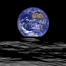Moon Flag From Earth Fifty Years Ago This Photo Captured The First View Of Earth From