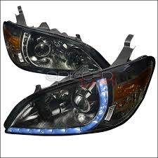honda civic 2004 2005 smoke r8 style projector headlights honda