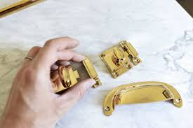 how to clean brass cabinet knobs farmhouse kitchen picking our unlacquered brass hardware