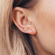 constellation earrings cassiopeia ear crawler earrings ear climber big dipper