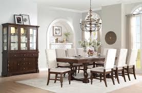 homelegance yates trestle dining table dark oak 5167 96