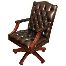 english handmade gainsborough leather desk chair green for sale at