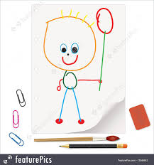 illustration of kids u0027 drawings a gift for mom and dad