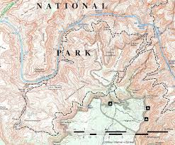 Grand Canyon On A Map Grand Canyon National Park For 2000