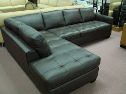 Black Leather Sofa With Chaise Furniture Leather Sofa Chaise Distressed Leather Sectional