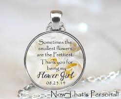 flower girl necklace images Flower girl necklace personalized with your wedding date thank jpeg
