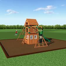 Small Backyard Swing Sets by Castle Peak Wooden Swing Set Playsets Backyard Discovery