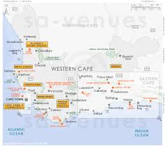 map with attractions western cape attractions map
