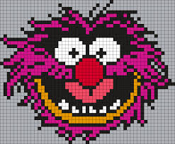 animal from the muppets square perler bead pattern bead sprite